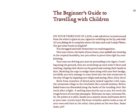 The Meditations Part V: Melissa Howard on 'The Beginner's Guide to Travelling With Children'